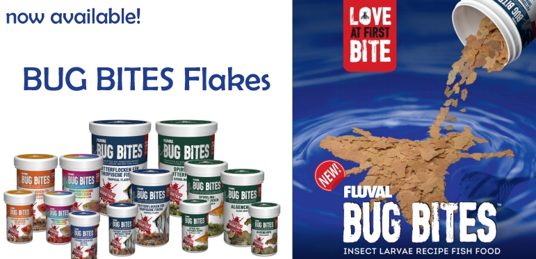 +++NEW Fluval BUG BITES Flakes & Chips+++