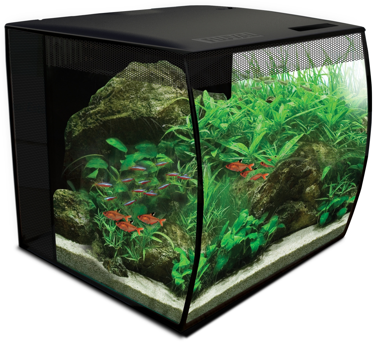 Fluval complete aquarium flex 34 l for Chauffage aquarium