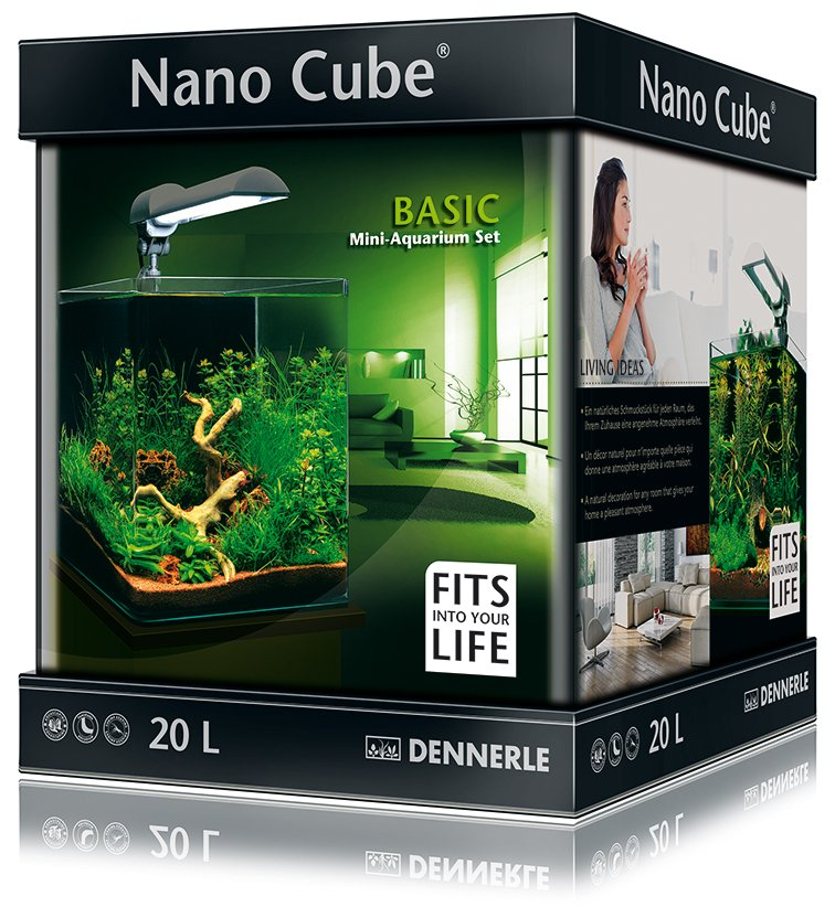 dennerle basic nanocube 20l style led m. Black Bedroom Furniture Sets. Home Design Ideas