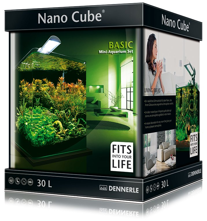 dennerle basic nanocube 30l style led m. Black Bedroom Furniture Sets. Home Design Ideas