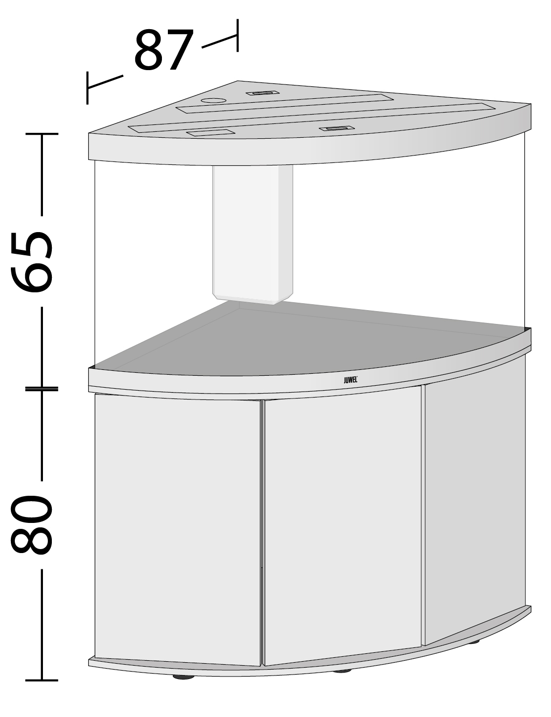 juwel trigon 350 led black light wood dark wood white. Black Bedroom Furniture Sets. Home Design Ideas