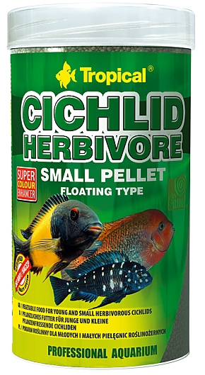 Tropical Cichlid Herbivore Small Pellet