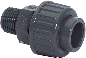 PVC Adaptor union with male thread