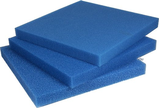 PPI Filter Foam Mat blue 50x50x10 cm