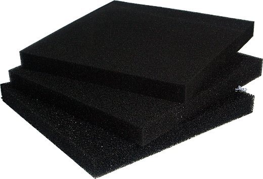 PPI Filter Foam Mat black 50x50x10 cm