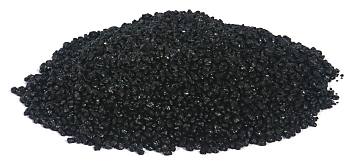 Color quartz aquarium gravel -Black- 2-3 mm