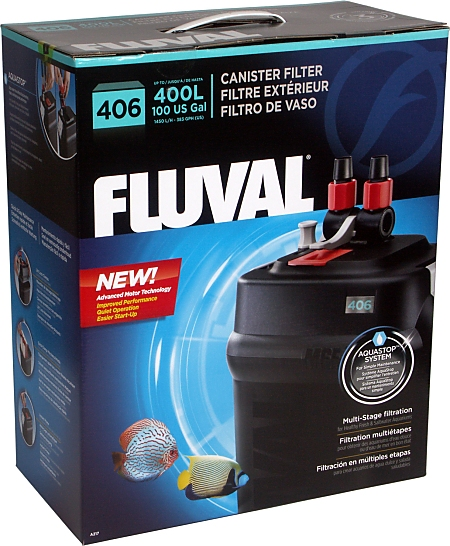 Fluval 406 external aquarium filter for Aquarium 600l