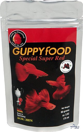 Discusfood Guppy Special Super red
