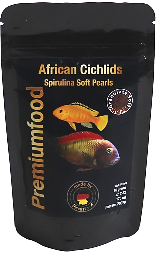Discusfood African Cichlid spirulina pearls