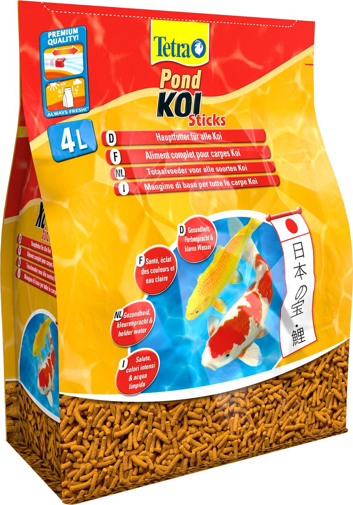 Tetra pond koi sticks 1 0 l 4 0 l 10 0 l 50 0 l for Koi pond sticks