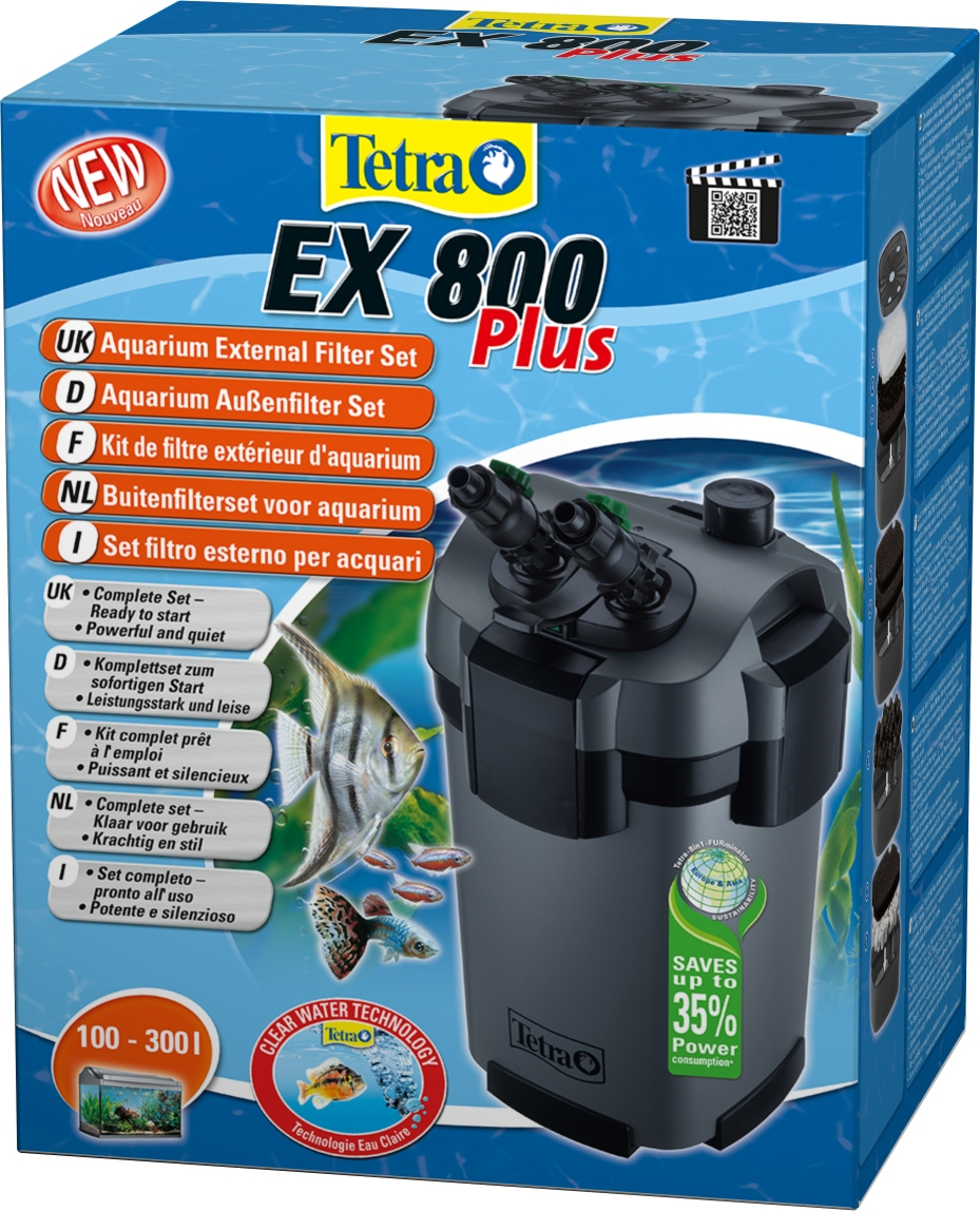 tetra ex 800 plus external filter complete kit. Black Bedroom Furniture Sets. Home Design Ideas