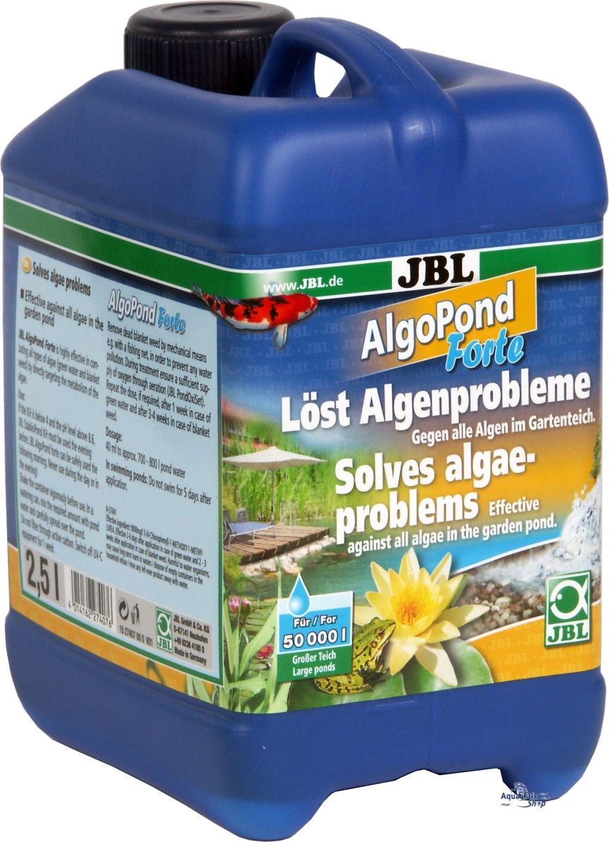 Jbl algopond forte 250 ml 500 ml 2500 ml 5000 ml for Kupfer gegen algen im gartenteich