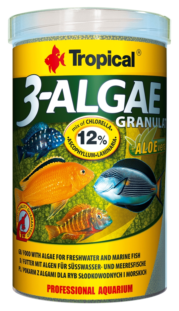 3-ALGAE GRANULAT for freshwater and marine herbivorous fish  TROPICAL