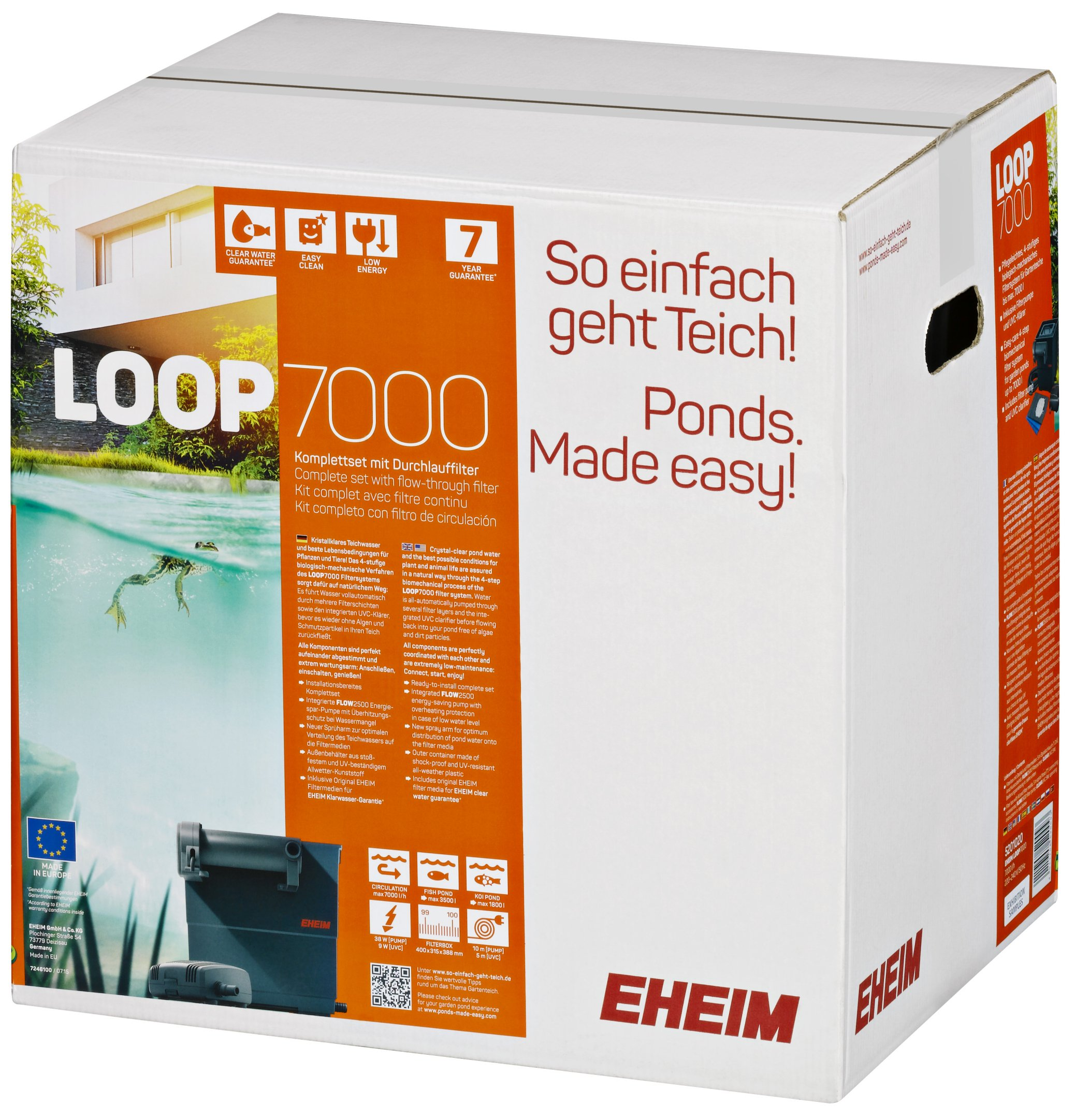 Eheim pond filter complete set loop for Set up pond filter system