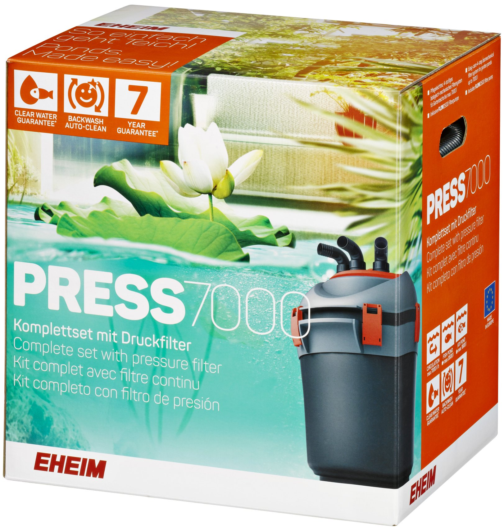 Eheim pond pressure filter press for Pond without filter